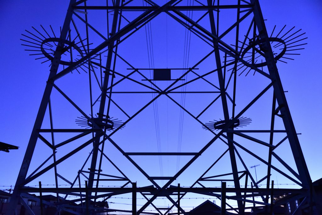中央林間西1丁目送電鉄塔です