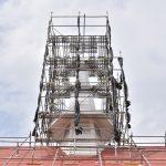南林間5丁目大和カトリック教会白い塔になったです