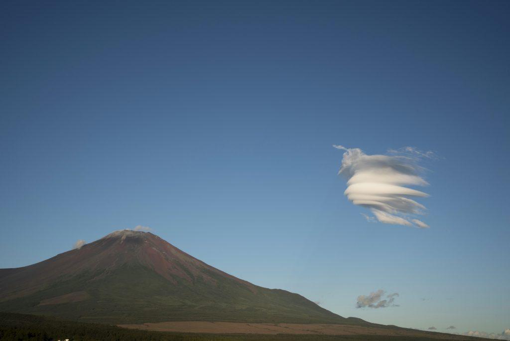 2018年8月22日 富士山とつるし雲です